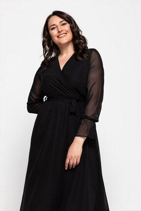 Melisita Platina Anvelop Büyük Beden Elbise 2