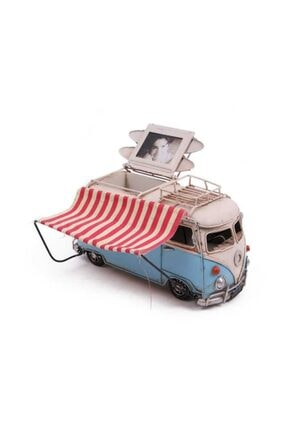 Hediye Mevsimi Dekoratif Metal Minibüs Çerçeveli Kalemlik Ve Tenteli 1