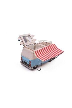 Hediye Mevsimi Dekoratif Metal Minibüs Çerçeveli Kalemlik Ve Tenteli 3