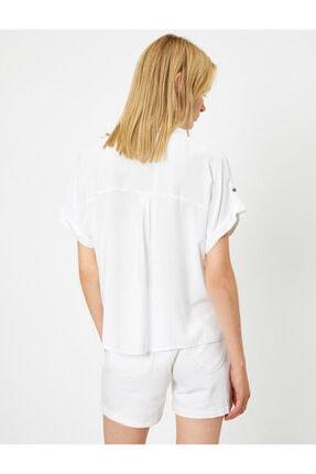 Koton Kadın Beyaz Gömlek 0YAL68621OW 3