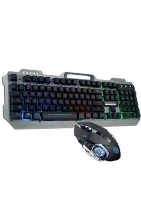 Havana Rampage Ha-k102 Işıklı Oyuncu Klavye Mouse Seti Mekanik His Rgbli 0
