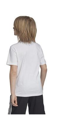 adidas YB E LIN TEE Beyaz Erkek Çocuk T-Shirt 101069004 1