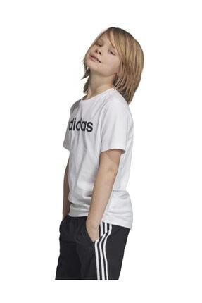 adidas YB E LIN TEE Beyaz Erkek Çocuk T-Shirt 101069004 2