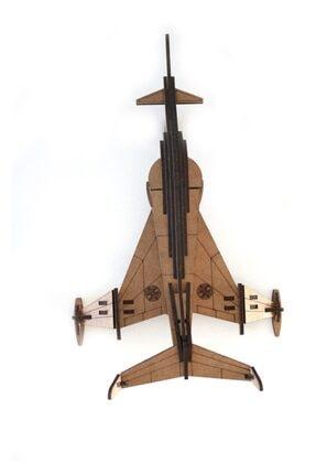 3D SERGİ 3d Ahşap Puzzle Angel Interceptor Uçak 47 Parça 3