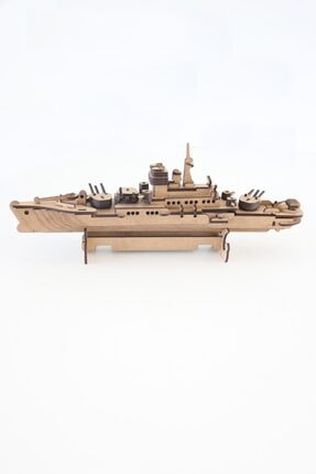 3D SERGİ 3d Ahşap Puzzle Savaş Gemisi 123 Parça 2