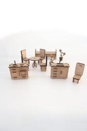 3D SERGİ 3d Ahşap Puzzle Ev Eşyaları Set 2 - 105 Parça 2