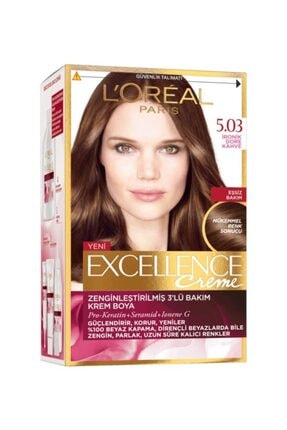 L'Oreal Paris Excellence Creme Saç Boyası 5.03 İkonik Dore Kahve 0