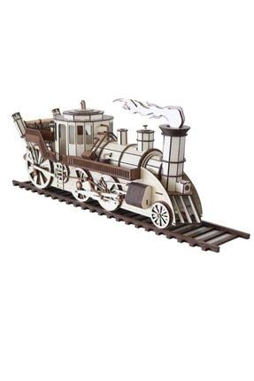 3D SERGİ 3d Ahşap Steampunk Tren Puzzle 361 Parça 1