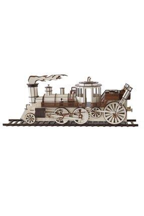 3D SERGİ 3d Ahşap Steampunk Tren Puzzle 361 Parça 2