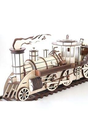 3D SERGİ 3d Ahşap Steampunk Tren Puzzle 361 Parça 3