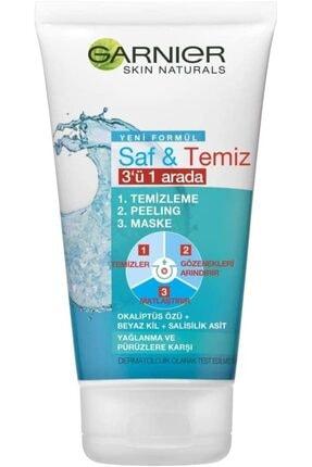 Garnier Skin Naturals Saf & Temiz 3ü 1 Arada 150 ml 0