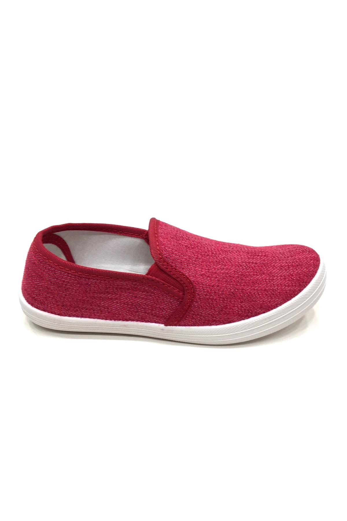 Kız Çocuk Fuşya Keten Günlük Ayakkabı