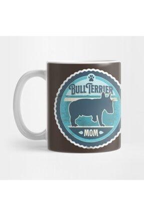 TatFast Bull Terrier Mom - Distressed English Bull Terrier Silhouette Design Kupa 0
