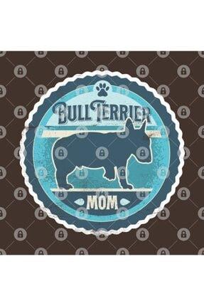 TatFast Bull Terrier Mom - Distressed English Bull Terrier Silhouette Design Kupa 2
