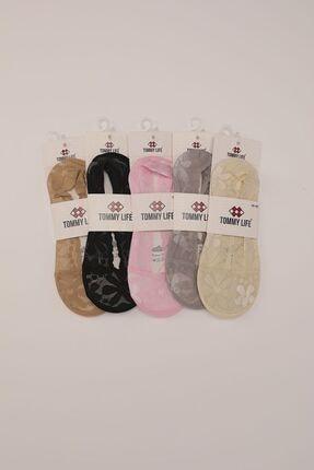 Tommy Life Slikonlu Dantelli Babet 5 li Kadın Çorap T08BY-05770 0