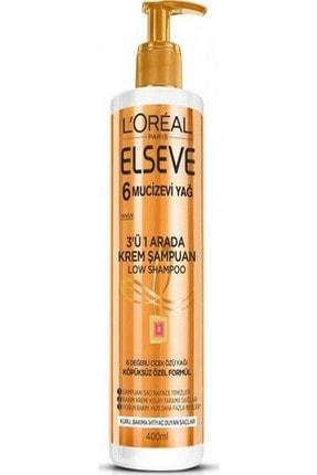 Elseve Mucizevi Yağ 3'ü 1 Arada Low Shampoo Krem Şampuan 3600523585267 0