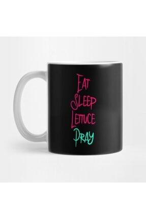 TatFast Eat Sleep Lettuce Pray Funny Religious Biblical Humor Kupa 0