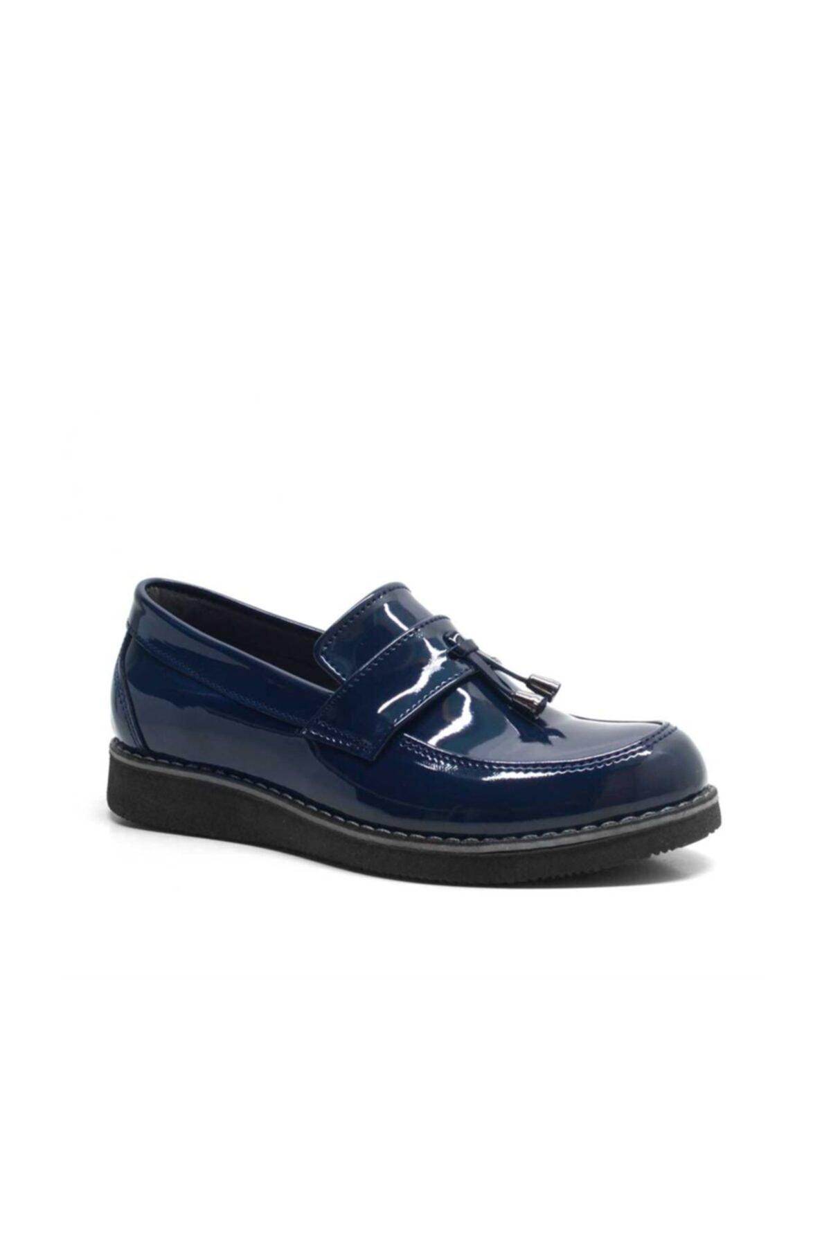 Çocuk Lacivert Rugan Loafer Okul Ayakkabısı