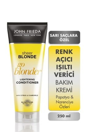 John Frieda Sarı Saçlara Özel Güneş Işıltısı Veren Yoğun Bakım Kremi 250ml 0