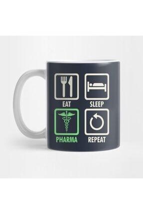 TatFast Eat Sleep Pharma Repeat   Cool And Funny Pharmacy Kupa 0