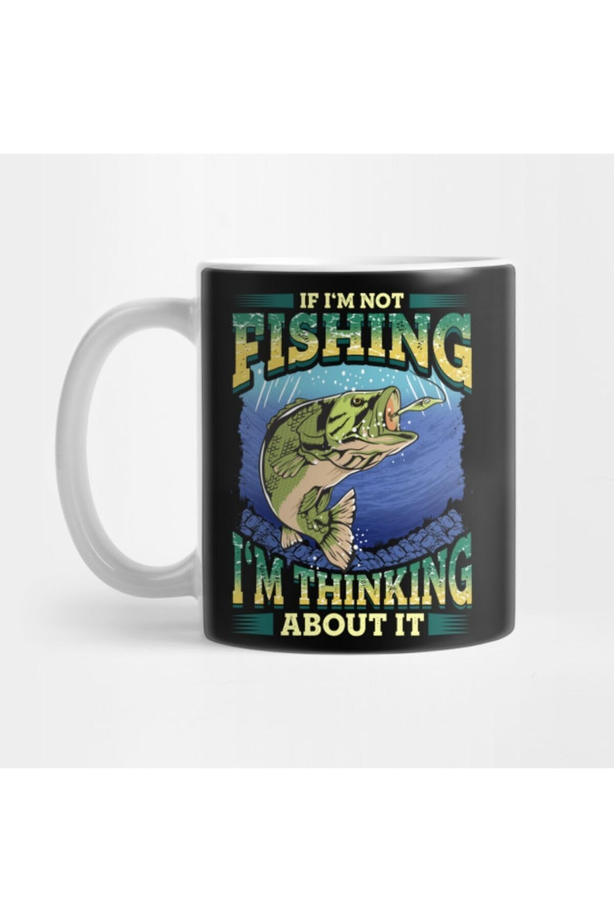 Thinking About Fishing Funny Quotes Dad Fathers Day Kupa