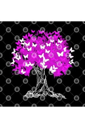 TatFast Tree With Pink Butterflies Kupa 2