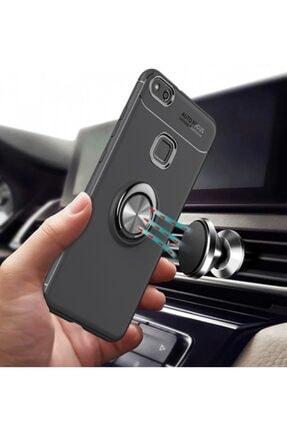 Kilifplus Huawei P10 Lite Kılıf Auto Focus Serisi Standlı Yüzüklü Kapak - Mavi - Siyah 2