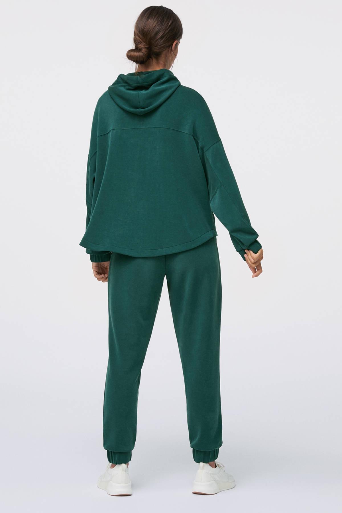 Oysho Kadın Yeşili Önü Büyük Cepli Yumuşak Dokulu Sweatshirt 4