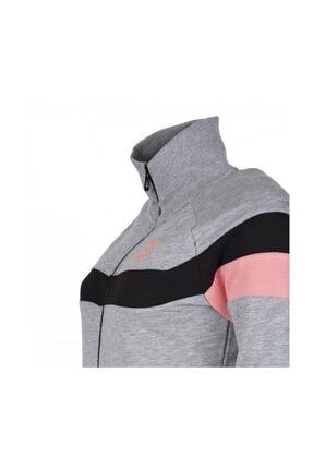 HUMMEL Kadın Gri Pembe Sweatshirt 4