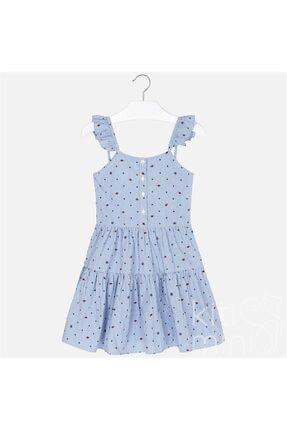 Mayoral Kız Çocuk Mavi Çizgili Askılı Elbise 0