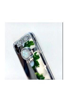 Ksyaccessories Iphone Xs Max Gümüş Aynalı Ve Taşlı Selfie Yüzüklü Telefon Kılıfı 2