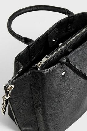 Stradivarius Kadın Siyah Tote Çanta 03506001 2