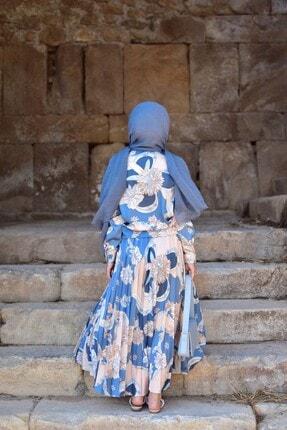 Loreen Kadın Mavi Etekli Takım 2