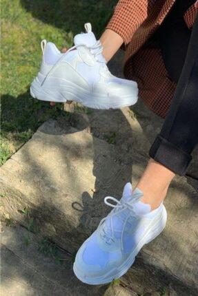 İnan Ayakkabı 1. Kalite Suni Deri Bayan Sneakers 4