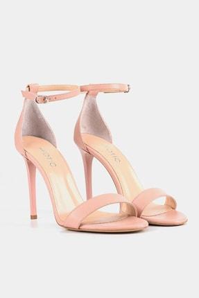 Hotiç Hakiki Deri Pudra Kadın Topuklu Sandalet 2