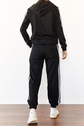 Xena Kadın Siyah Üç Şeritli Eşofman Takımı 0YZK8-10501-02 2