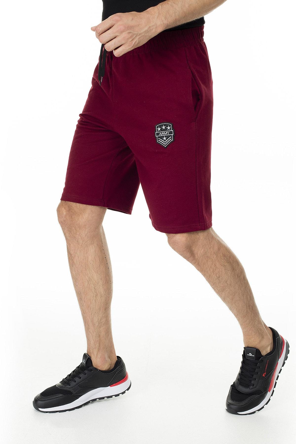 Buratti Erkek Gri Belden Bağlama Elastik Slim Fit Short Büyük Beden Seçeneğiyle 1592003 1