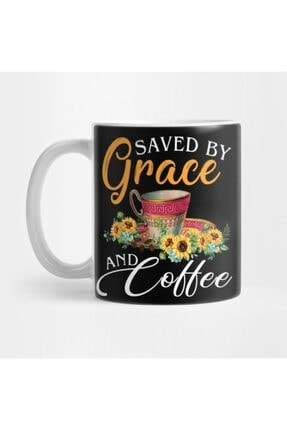 TatFast Christian Coffee Lover Funny Gift Saved By Grace And Coffee Kupa 0