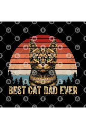 TatFast Vintage Best Cat Dad Ever Men Bump Fit Fathers Day Gift Kupa 2