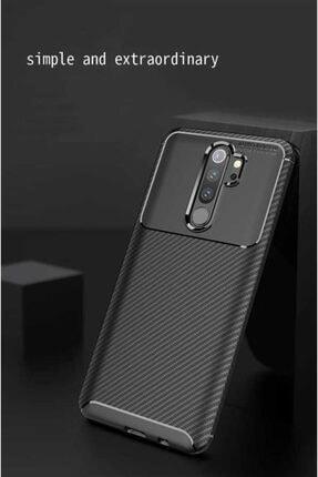 Fibaks Xiaomi Redmi Note 8 Pro Kılıf Rugged Armor Negro Karbon Silikon 1