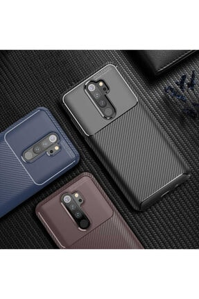 Fibaks Xiaomi Redmi Note 8 Pro Kılıf Rugged Armor Negro Karbon Silikon 2