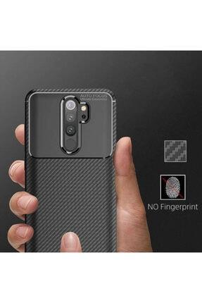 Fibaks Xiaomi Redmi Note 8 Pro Kılıf Rugged Armor Negro Karbon Silikon 3