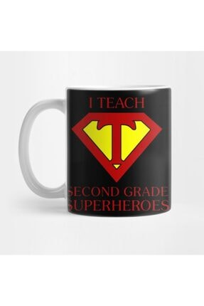 TatFast Funny Teacher I Teach Second Grade Superheroes Gifts Kupa 0