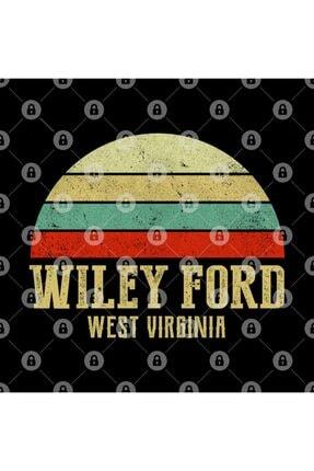 TatFast Wıley Ford, West Vırgınıa Vintage Retro Sunset Kupa 2