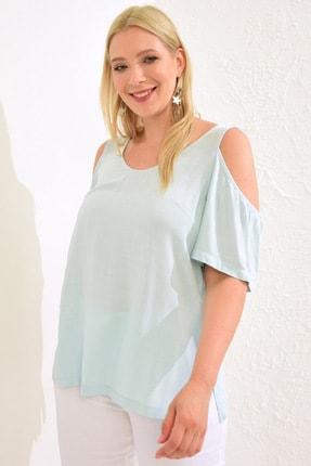 LC Waikiki Kadın Açık Mavi Bluz 0WCD75Z8 1