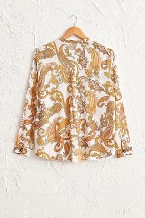 LC Waikiki Kadın Sarı Baskılı Bluz 0SB814Z8 1