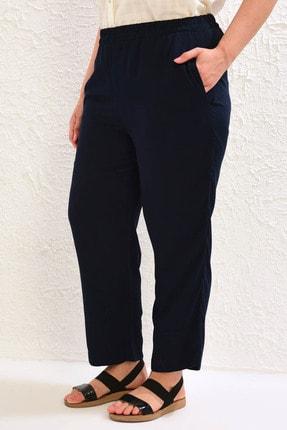 LC Waikiki Kadın Lacivert Pantolon 0WCC37Z8 3