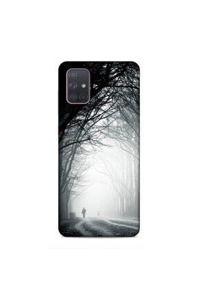 Pickcase Samsung Galaxy A71 Kılıf Desenli Arka Kapak Gece Yürüyüşü 0