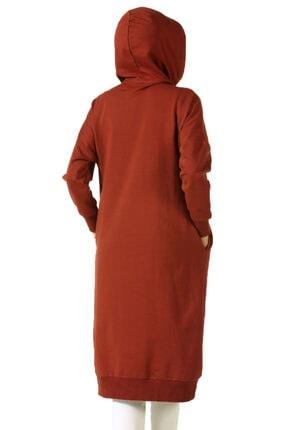 ALLDAY Kadın Turuncu Kuşgözlü Penye Sweatshirt 2