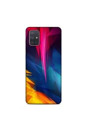 Pickcase Samsung Galaxy A71 Düzensiz Renkler Desenli Arka Kapak 0